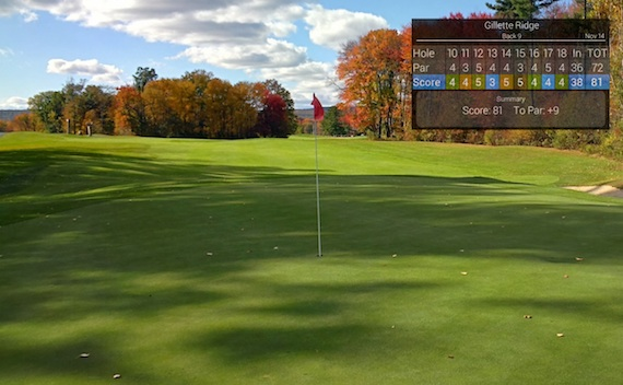 Social golf : Google Glass vignettes are a great way to share your golf scorecard